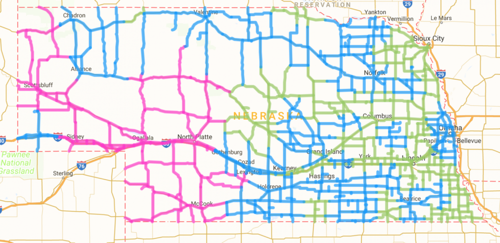 Road conditions as of 4:30 AM   Sandhills Express