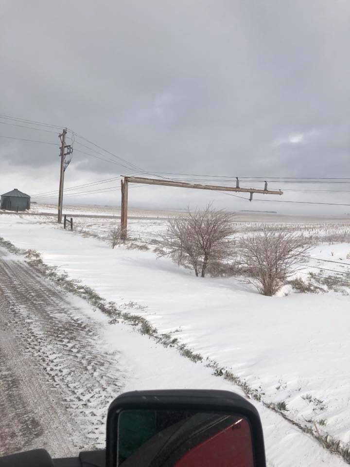 April Blizzard causes Problems throughout the State