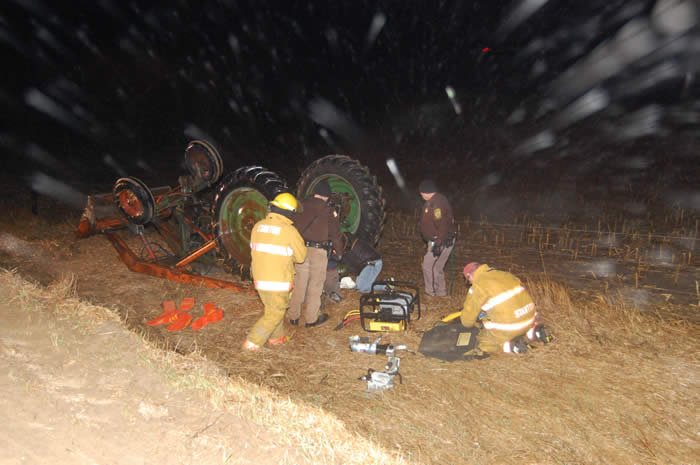 Jaws of Life Used After Traffic Accident