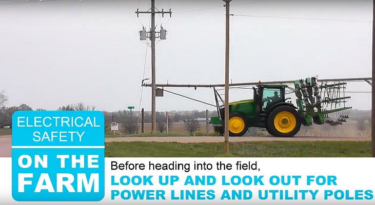 Farmers Urged to Look Up and Around for Power Lines to Avoid Injuries, Outages