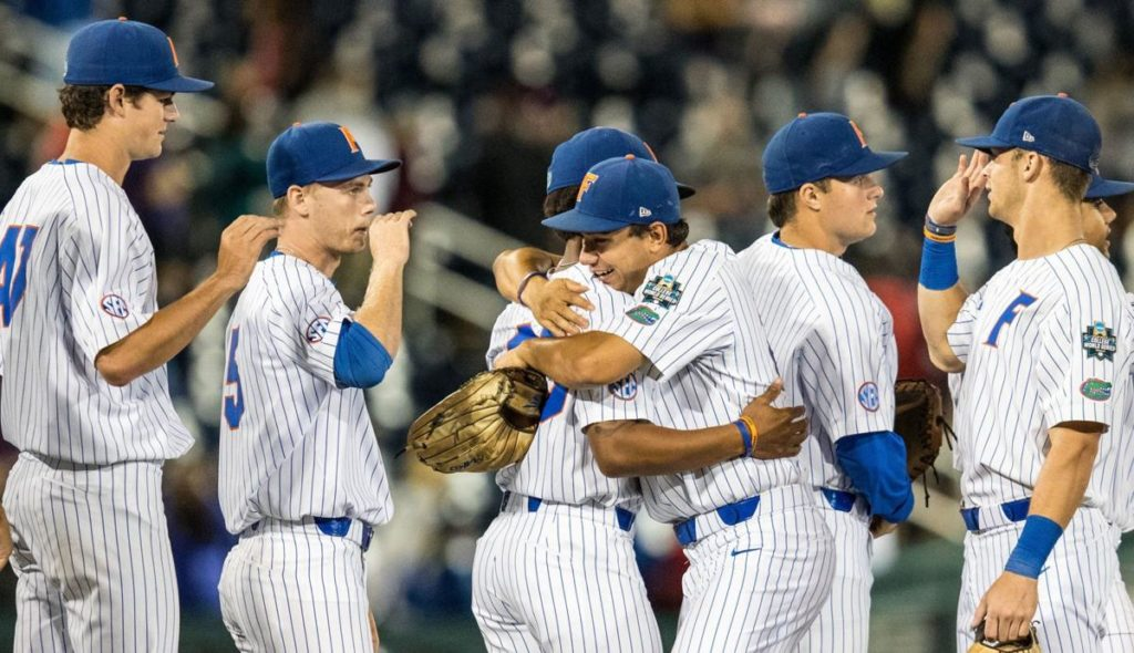 Defending champion Florida holds off Texas Tech to keep repeat CWS title hopes intact