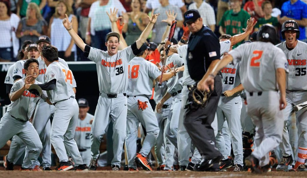 Down to last strike, Oregon State rallies against Arkansas to force decisive Game 3 at CWS