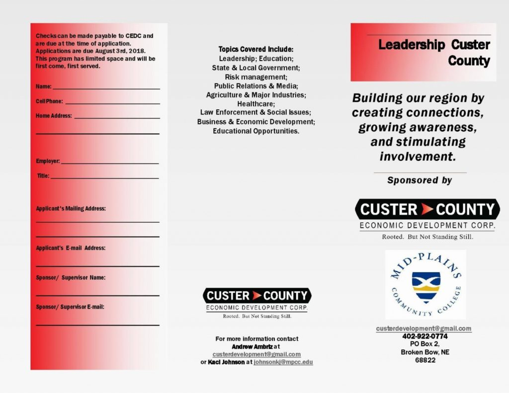 Leadership Custer County Applications Accepted through August 31