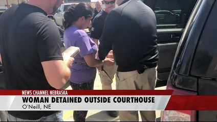 Video shows woman being arrested by ICE agents in O'Neill