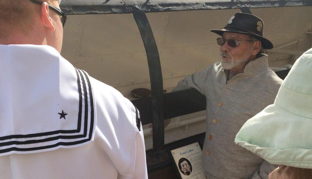 USS Nebraska Crew Inspects World's First Combat Submarine