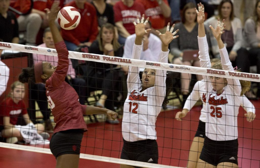 Husker Volleyball Resets With a Win Over Indiana