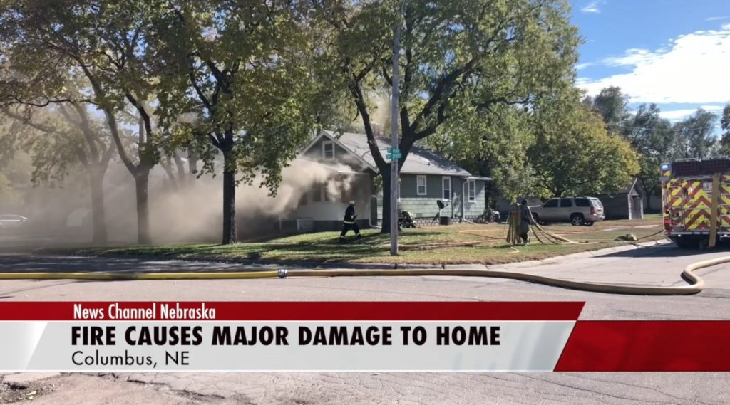 House fire causes major damage