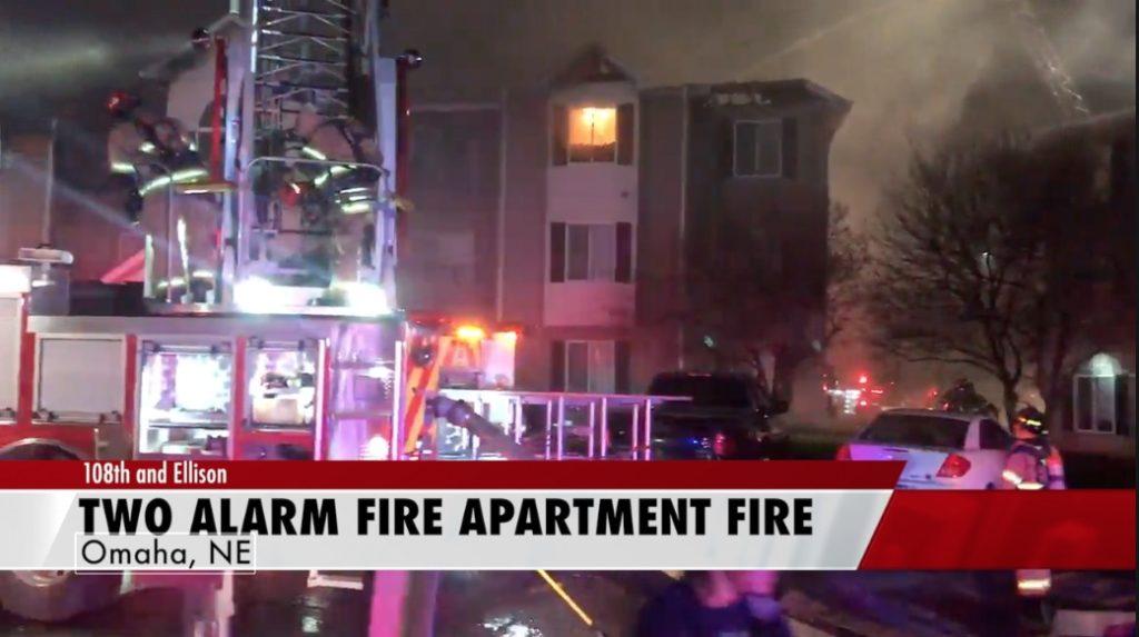 Two alarm fire destroys apartment building