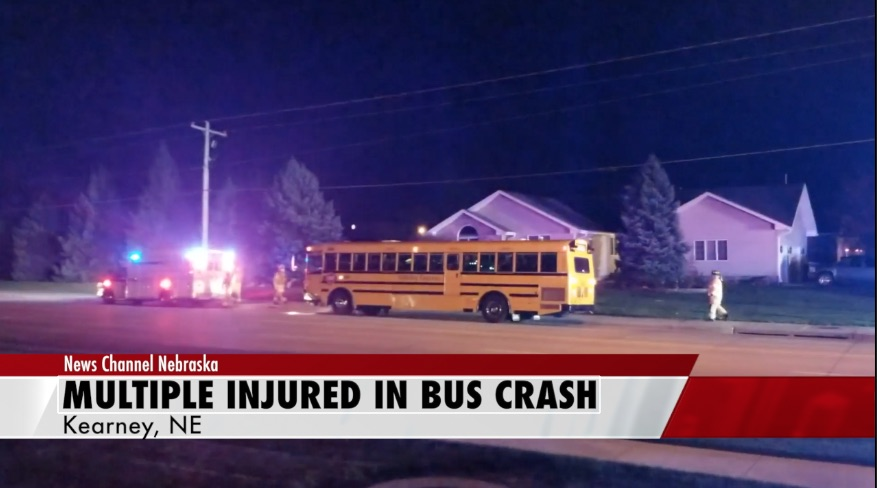 School bus sends multiple students to hospital
