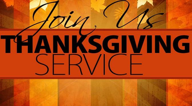 Broken Bow Ministerial Association Community Thanksgiving Service