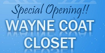 Wayne Coat Closet To Host Two Special Open Dates In November, December