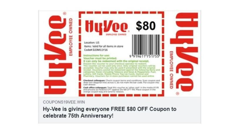 Hy-Vee Telling Shoppers to Avoid Coupon Scam