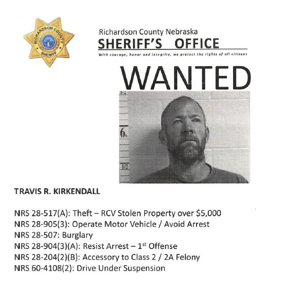 Sheriff Released Wanted Poster For Kirkendall