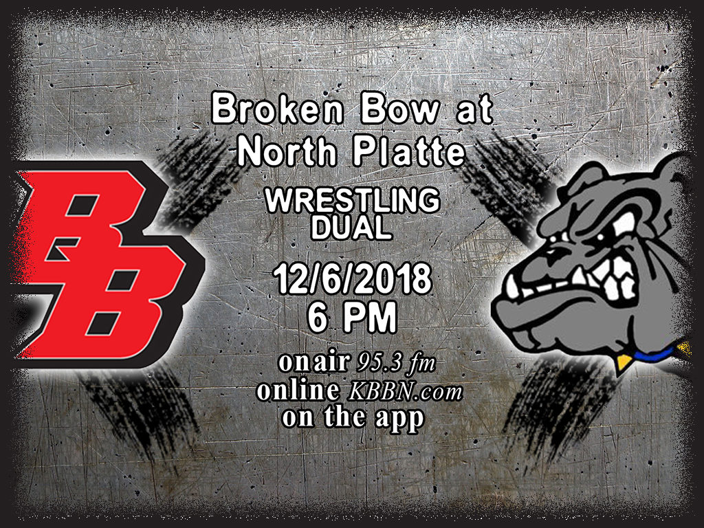 Broken Bow Meets North Platte in Wrestling Dual Tonight on KBBN