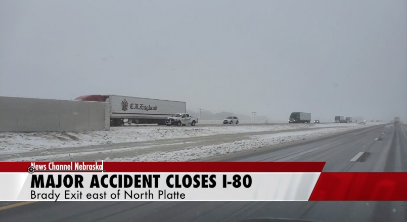 I-80 closed after messy accident near North Platte