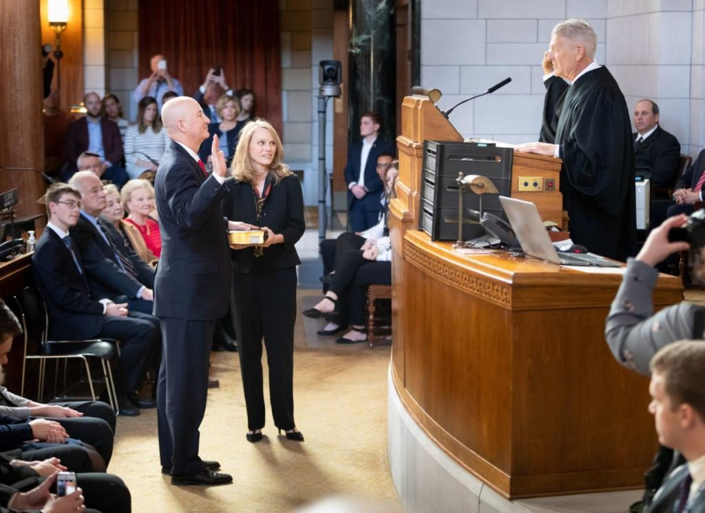 Gov. Ricketts, sworn in for 2nd term, says 'Nebraska is what America is supposed to be'