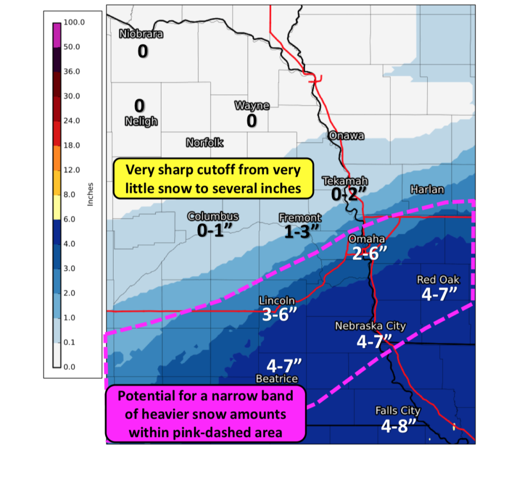 Forecasted Snow Totals Increase