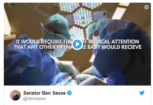 Sasse Reintroduces Born-Alive Legislation