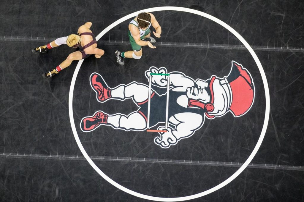 Nebraska state wrestling notebook from day one of competition