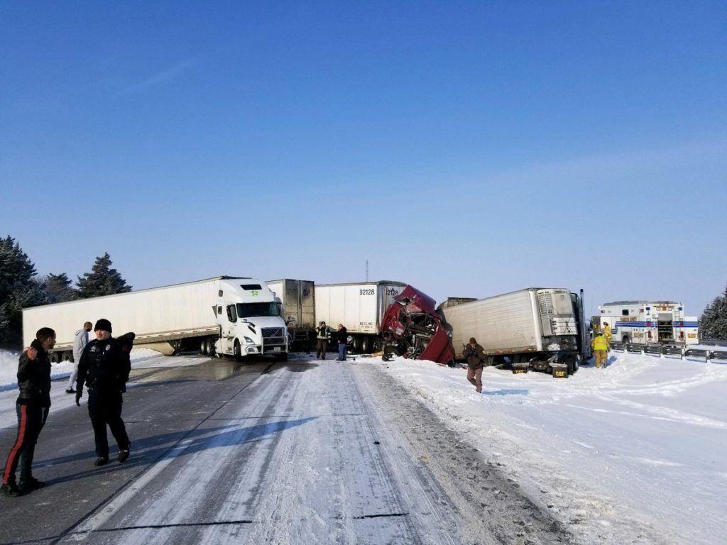 Indiana man dies after Wednesday pileup on I-80 involving 11 vehicles
