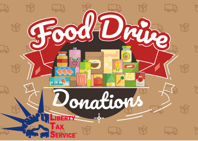 Liberty Tax Holds Food Drive to Benefit Lifehouse