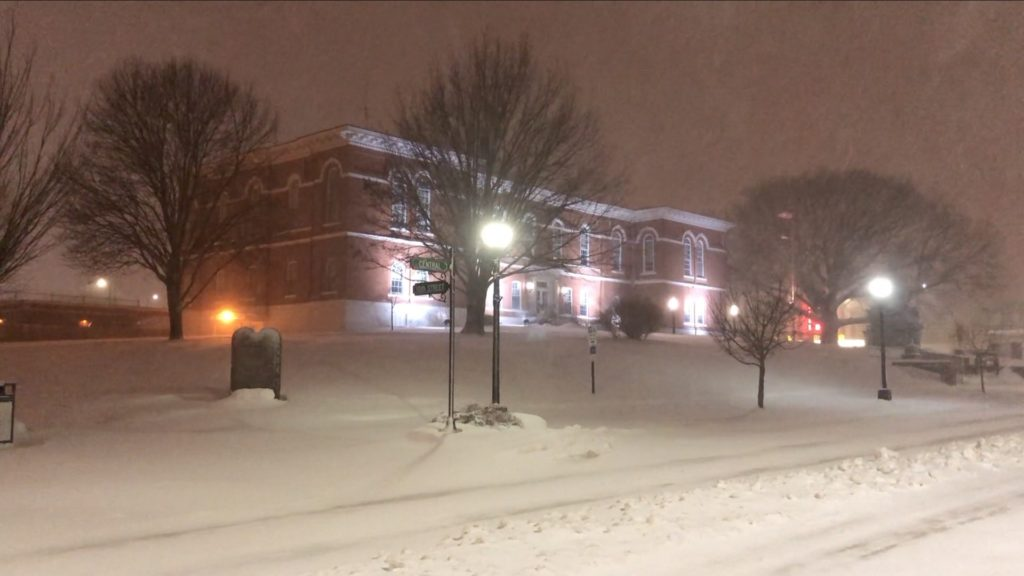 Blizzard conditions paralyzing Nebraska City area