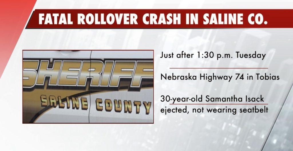 One person dead in rollover crash