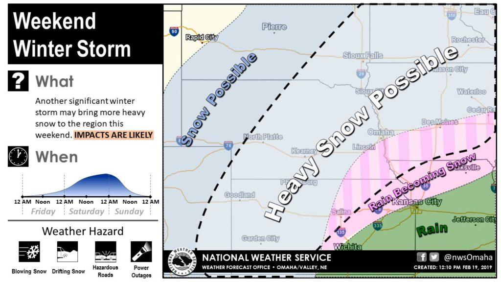 Weekend winter storm forecast