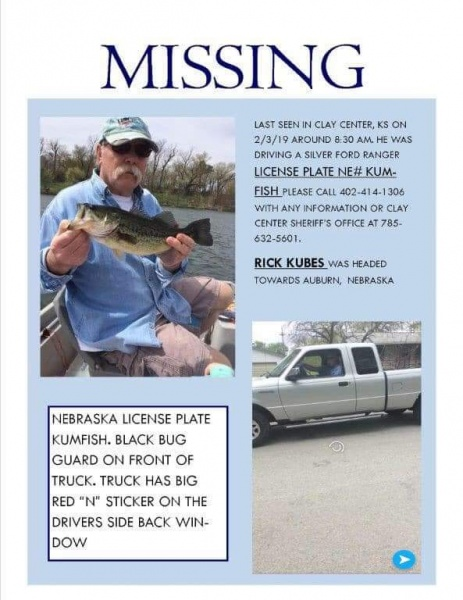 Missing Man Found Dead In Kansas