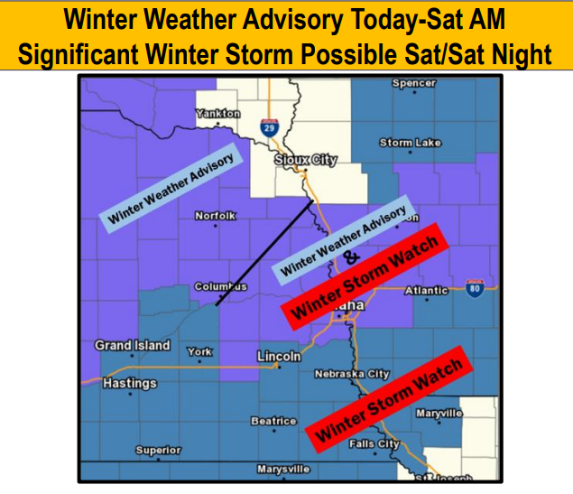 Saturday Snow Storm? Here's the latest