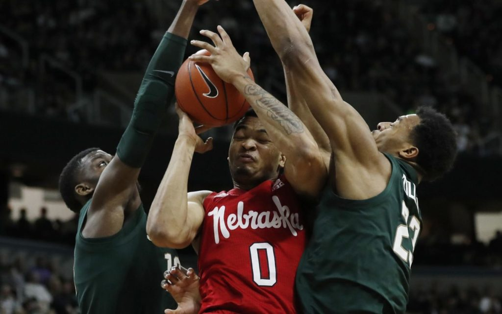 Nebraska basketball clinches bottom-four finish in Big Ten with loss at Michigan State