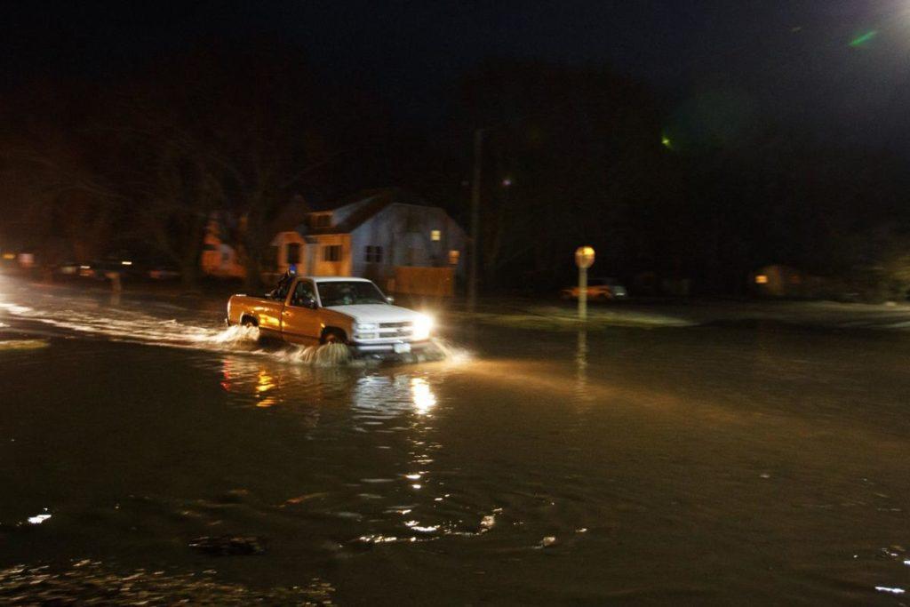 Mandatory evacuation in Pacific Junction, Iowa