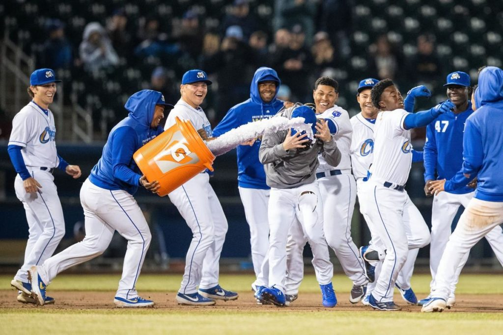Storm Chasers defeat the Kansas City Royals with a walk-off sacrifice fly by D.J. Burt