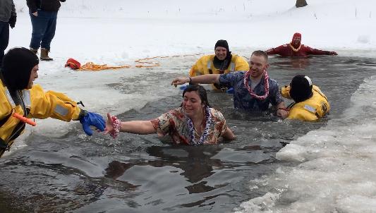 """Really, It's Fun"" Say Polar Plungers At Nebraska City"