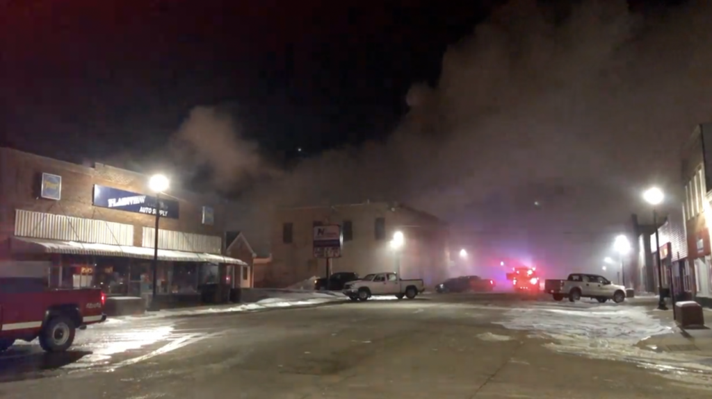 Fire Reported In Downtown Plainview