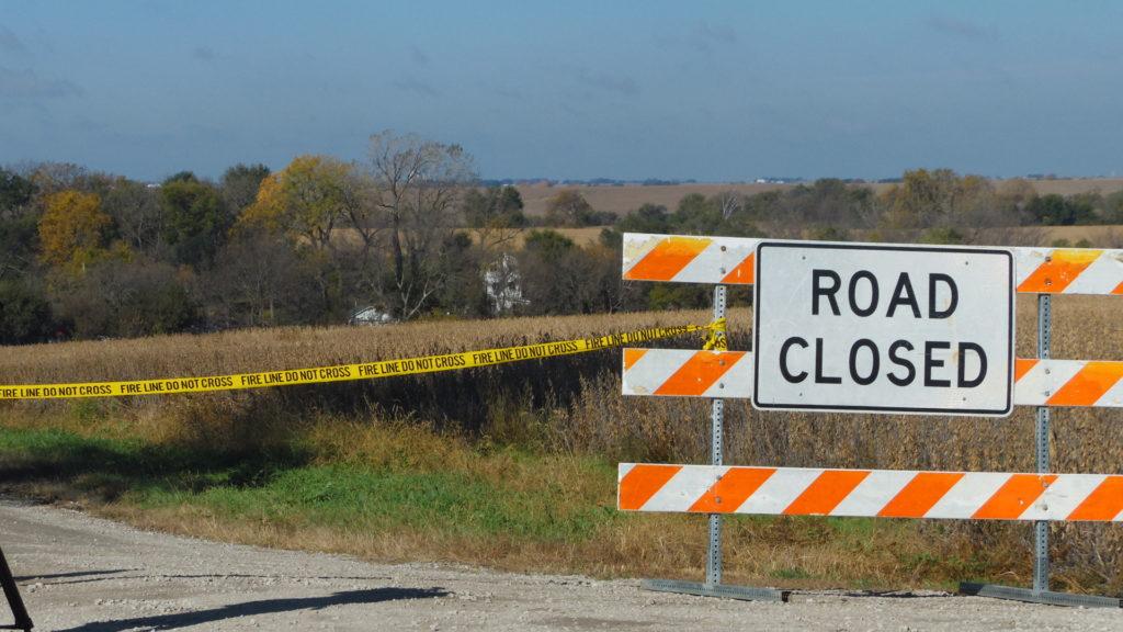 Flood waters close U.S. Highway 136 in Nemaha County