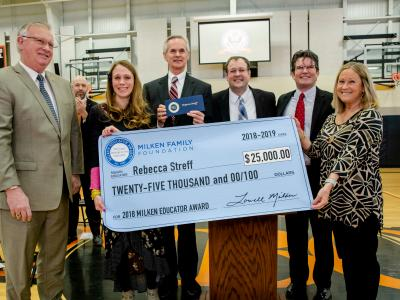 North Bend Elementary Teacher Honored by Milken Foundation