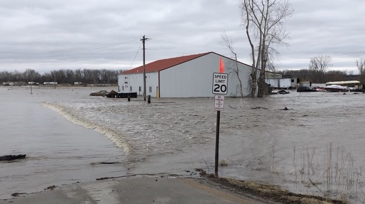 Officials watching for surge into Missouri River from Platte River flooding