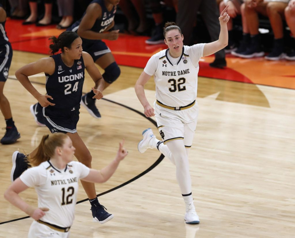 Former Husker Jessica Shepard, Notre Dame advance to second straight championship game