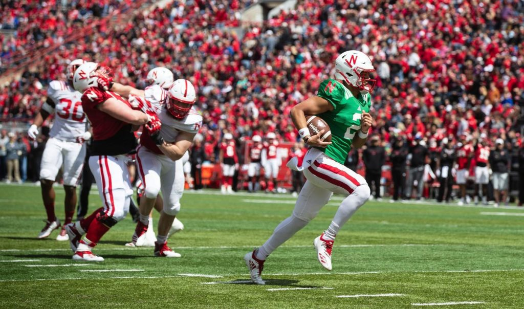 Husker QB Adrian Martinez leads Red team to spring-game win in front of sold-out Memorial Stadium