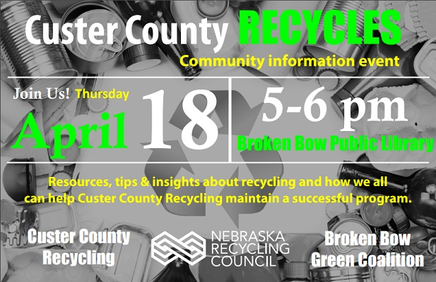 RESCHEDULED TO APRIL 18 Custer County Recycles Community Info Event