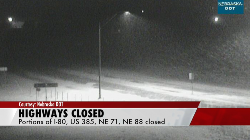 The massive storm is closing down highways and parts of I-80