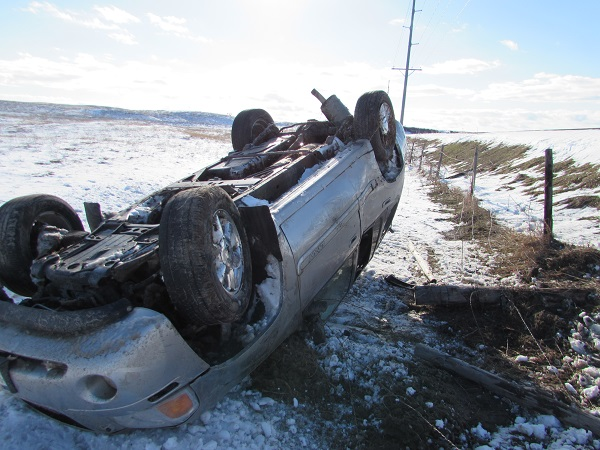 Snow/Slush To Blame For Rollover Accident On Sargent Road