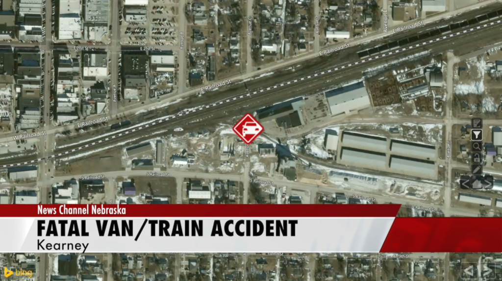 Kearney police: Man died when train struck van