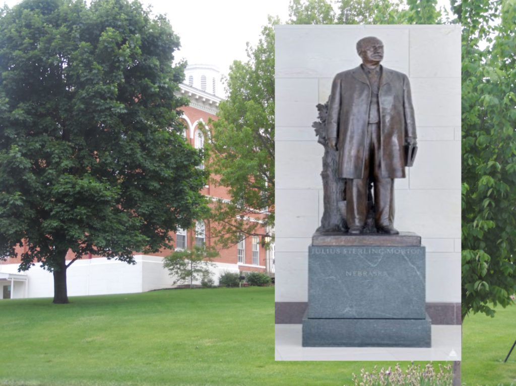 J. Sterling Morton Statue Soon To Be Homeless