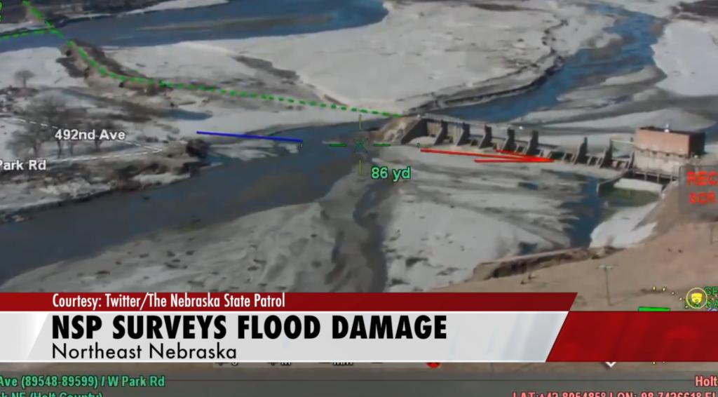 NSP surveys flood damage on HWY 281