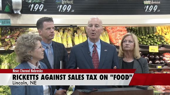 Ricketts Voices Opposition to Sales Tax Aimed at Candy, Pop and Bottled Water