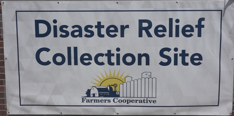 Farmers Cooperative collects over $80,000 and several pallets of farming supplies for flood victims