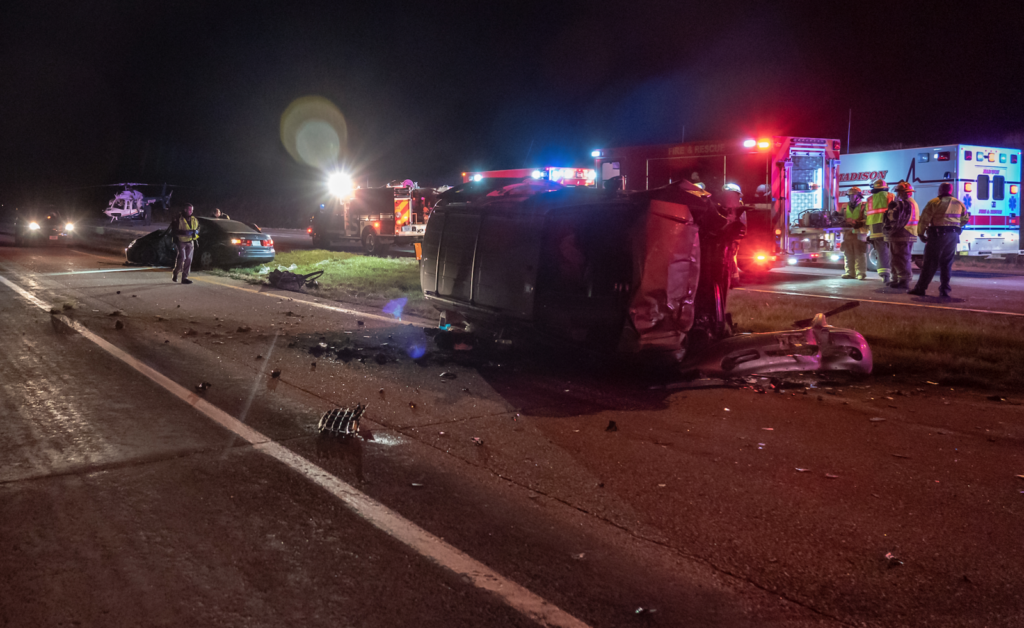 Four Hospitalized After Two Vehicle Accident