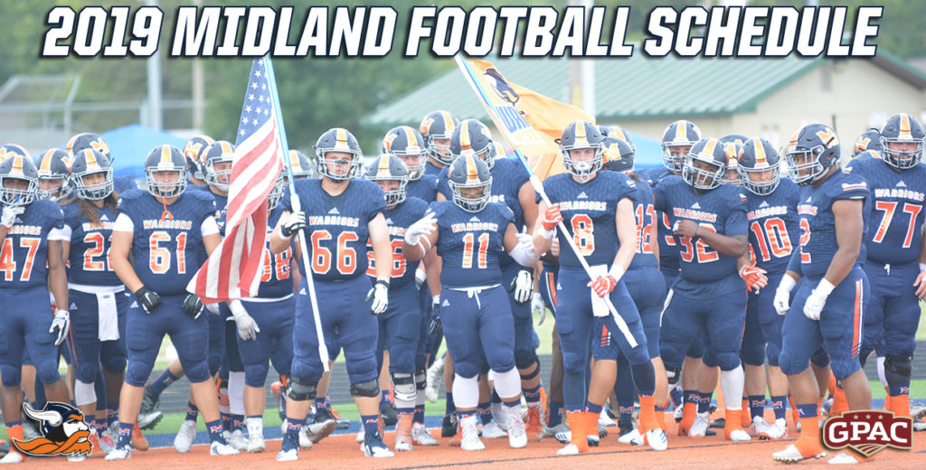 Midland Announces 2019 Football Schedule